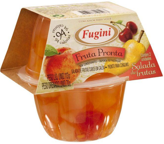 Fugini traz novidade ao mercado: a linha Fruta Pronta em pack com duas unidades