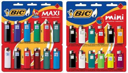 Novas embalagens BIC Maxi e BIC Mini
