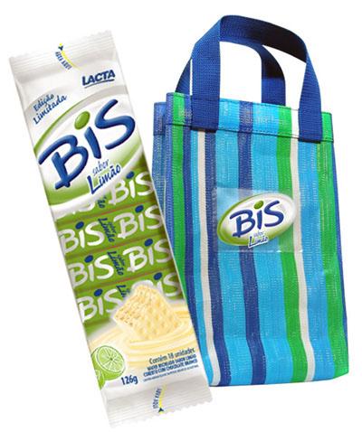 BiS Limão em embalagem promocional no site da Americanas e Facebook