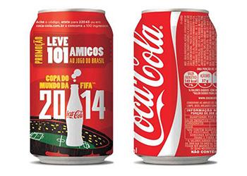 Coca-Cola leva 100 amigos para a Copa do Mundo 2014