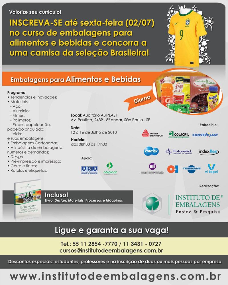 Curso de Embalagens para Alimentos e Bebidas