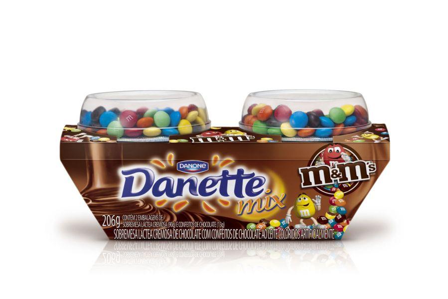 Novo Danette Mix é a irresistível mistura de Danette com M&M
