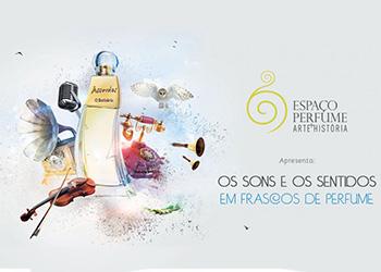 Exposição explora os sons e os sentidos dos frascos de perfume