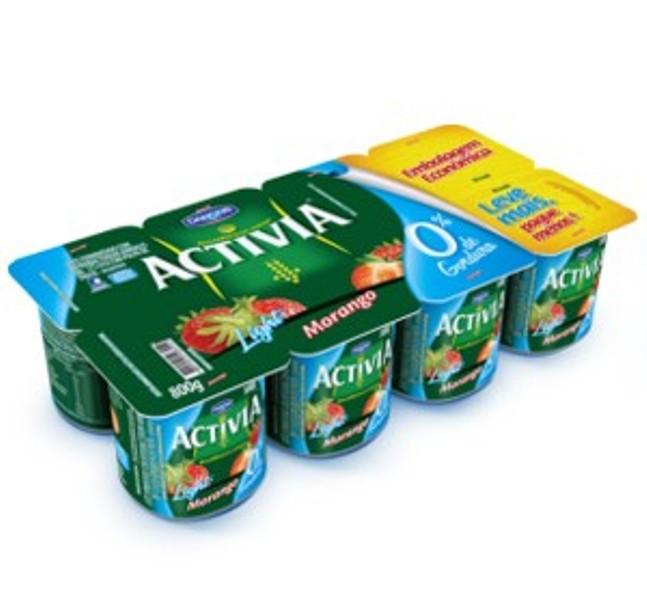Activia lança produtos 0% de Gordura na exclusiva bandeja de 800 gramas