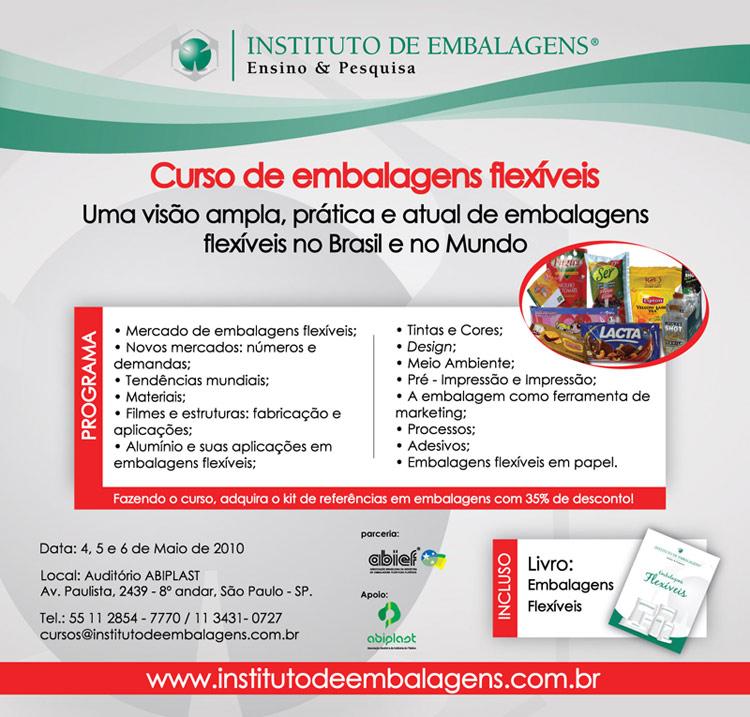 Curso sobre Embalagens Flexíveis: Instituto de Embalagens mantém parceria com o Guia da Embalagem com descontos e sorteio de vagas