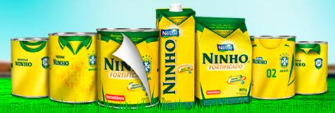 Embalagens de Leite Ninho: Torcida Verde Amarela