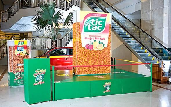 Maior caixa de Tic Tac do mundo é inaugurada em SP