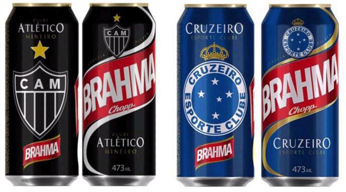 Sócios de Atlético-MG e Cruzeiro têm desconto especial em novas latas comemorativas de Brahma