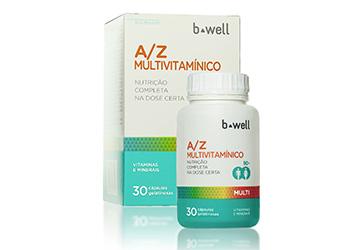 Multivitamínico B-well A/Z agora em nova embalagem