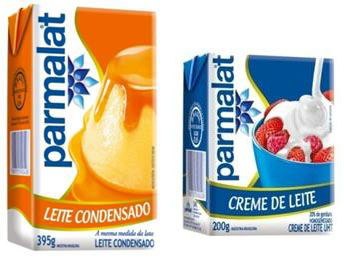 Parmalat renova suas linhas de leite condensado e creme de leite