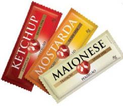 Perdigão Food Services lança ketchup, mostarda e maionese em sachê