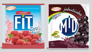 Refrescos MID e FITT Zero Açúcar, da Ajinomoto, ganham novas embalagens