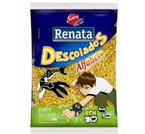 Renata traz novidade nutritiva e divertida para a garotada: macarrão de sêmola com ovos Alfabeto Ben 10
