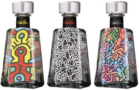 Lançamento: 1800 Tequila com rótulos assinados por Keith Haring