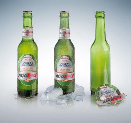 Linha de adesivos da Henkel aperfeiçoa processos de rotulagem de garrafas de vidro