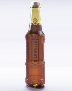 Una elegante botella de PET para la cerveza artesanal