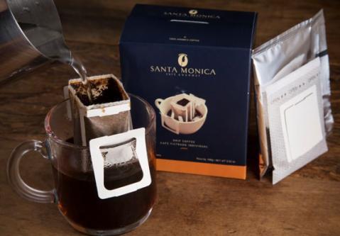 Café Santa Mônica apresenta café em sachê