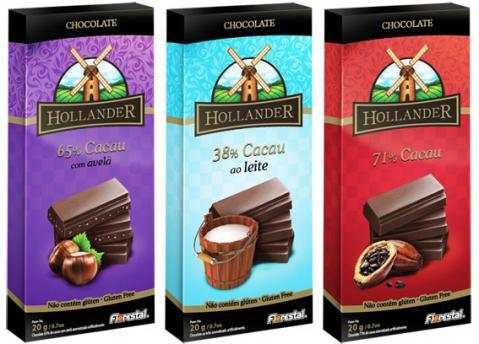 Florestal lança chocolates Hollander em embalagens de 20g