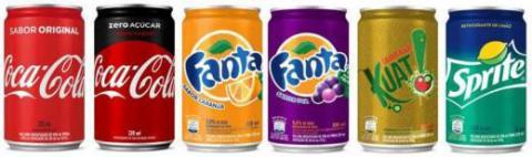 Coca-Cola lança latas no formato sleek para seus refrigerantes