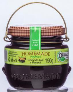 Geleia orgânica Homemade agora em pote de 190g