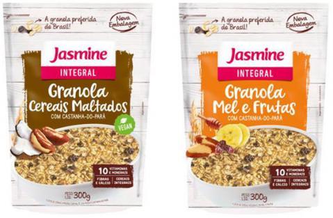 Linha de granolas da Jasmine está de cara nova