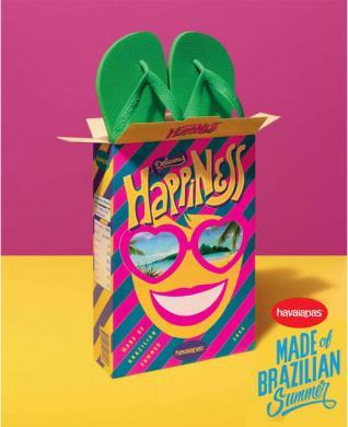 Havaianas leva um pouco do Brasil para o mundo em embalagens muito especiais