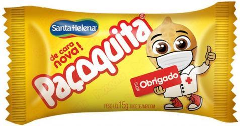 Paçoquita homenageia profissionais da saúde com mascote estampado na embalagem