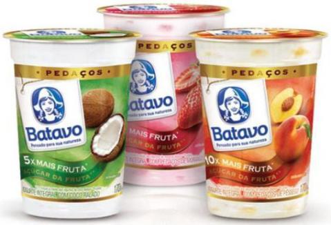 Batavo lança novo formato de iogurte com frutas
