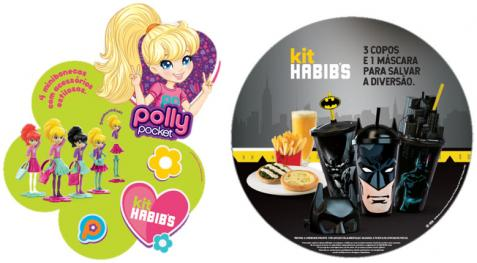 Kit infantil de Habib's e Ragazzo traz Polly Pocket e Batman