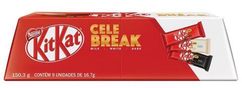 KitKat apresenta versão com chocolate branco e uma caixa inovadora para presentear