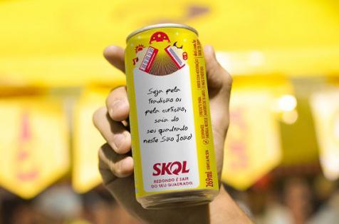 Skol terá latas decoradas que recriam Correio Elegante Junino