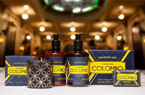 Embalagem de nova fragrância Granado homenageia Confeitaria Colombo