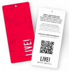 LIVE! inova com QR Code nas peças