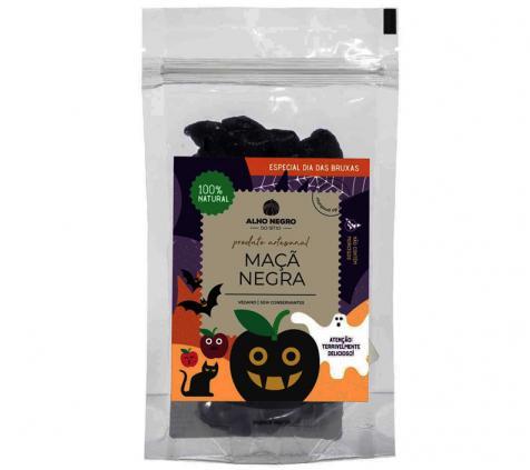 Maçã Negra em embalagem Dia das Bruxas