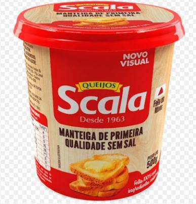 Scala lança manteiga sem sal em embalagem 500g