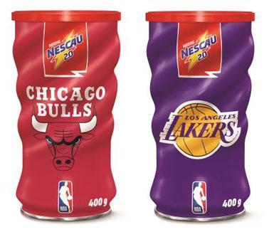Nescau lança edição especial de latas colecionáveis com times da NBA