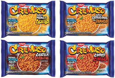 """Nissin renova linha """"Cremoso"""" e lança quatro novos e exclusivos sabores"""