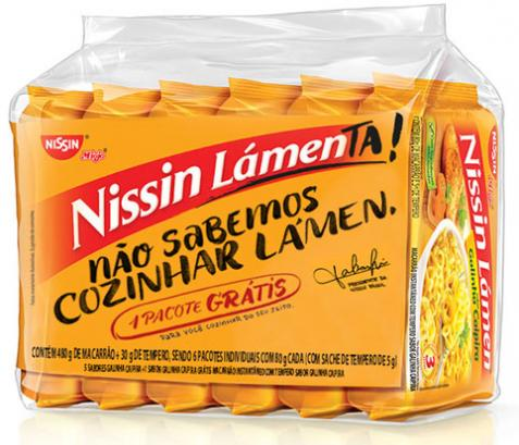 Nissin cria embalagem especial como pedido de desculpas