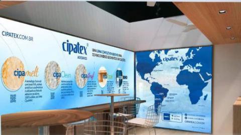 Cipatex leva soluções em adesivos para embalagens na Fispal