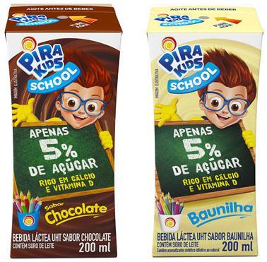Com apenas 5% de açúcar, Pirakids School ganha nova embalagem