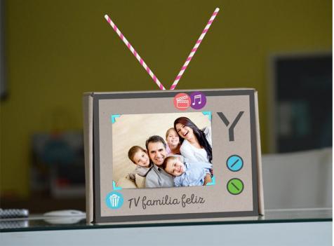 Nova embalagem da Oi TV/Elsys se transforma em porta-retratos