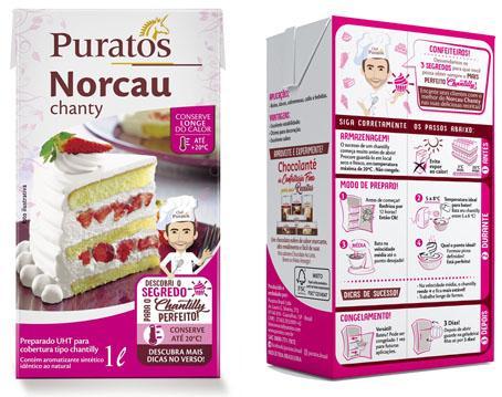 Nova embalagem do Norcau Chanty revela o passo a passo do chantilly perfeito