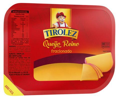 Queijo Reino Tirolez chega ao mercado em nova embalagem