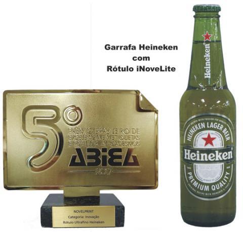 Rótulo da Cerveja Heineken ganha prêmio de Inovação