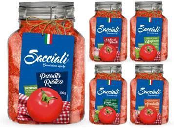 Sacciali lança linhas de molho de tomate e passata premium com pouch inovador e atraente