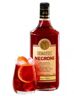 Seagers Negroni recria clássico coquetel italiano em garrafa da Verallia