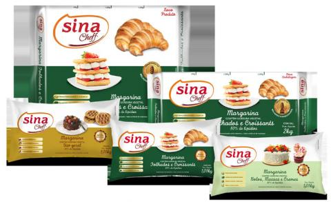 Sina Cheff traz margarinas em embalagens ideais para Food Service