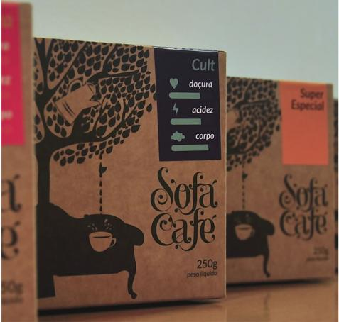 Sofá Café lança linha de cafés com embalagens diferenciadas