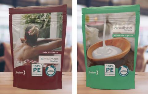 Antilhas apresenta na FCE Comestique, embalagem sustentável em 100% PE e acabamento glitter