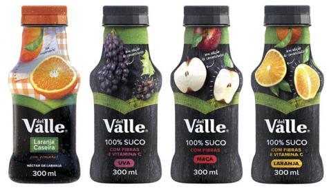 Del Valle 100% suco e Laranja Caseira ganham embalagens individuais em pet